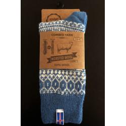 Ragsok med Islandsk flag lysblå - strømper