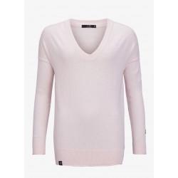 W Tiller V-neck - Soft Pink - Pelle P