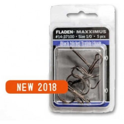 Maxximus black nickel treble hooks - Fladen Fishing